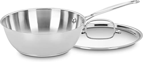 discount Cuisinart lowest 735-24 Chef's Classic Stainless 3-Quart Chef's popular Pan with Cover online