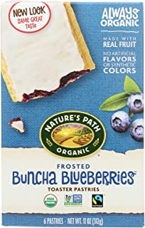 Nature's Path Toaster Pastries Frosted Buncha Blueberry - 6ct / ネイチャーズパス トースター ペイストリー フロステッド ブルーベリー 6個入り [並行輸入品]