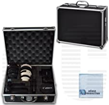 Small Hard Camera Equipment Case For Nikon D300, D300S, D3000, D3100, D3200, D3300, D5000, D5100, D5200, D5300, D5500, D610, D600, D70, D700, D7000, D7100, D800, D800E, D90, DF, 1 J1, 1 V1 & More… + Microfiber Cloth