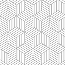 "17.7""X118""White and sliver Wallpaper Geometric Hexagon Stripped Peel and Stick Wallpaper Removable Contact Paper Self Adhe..."