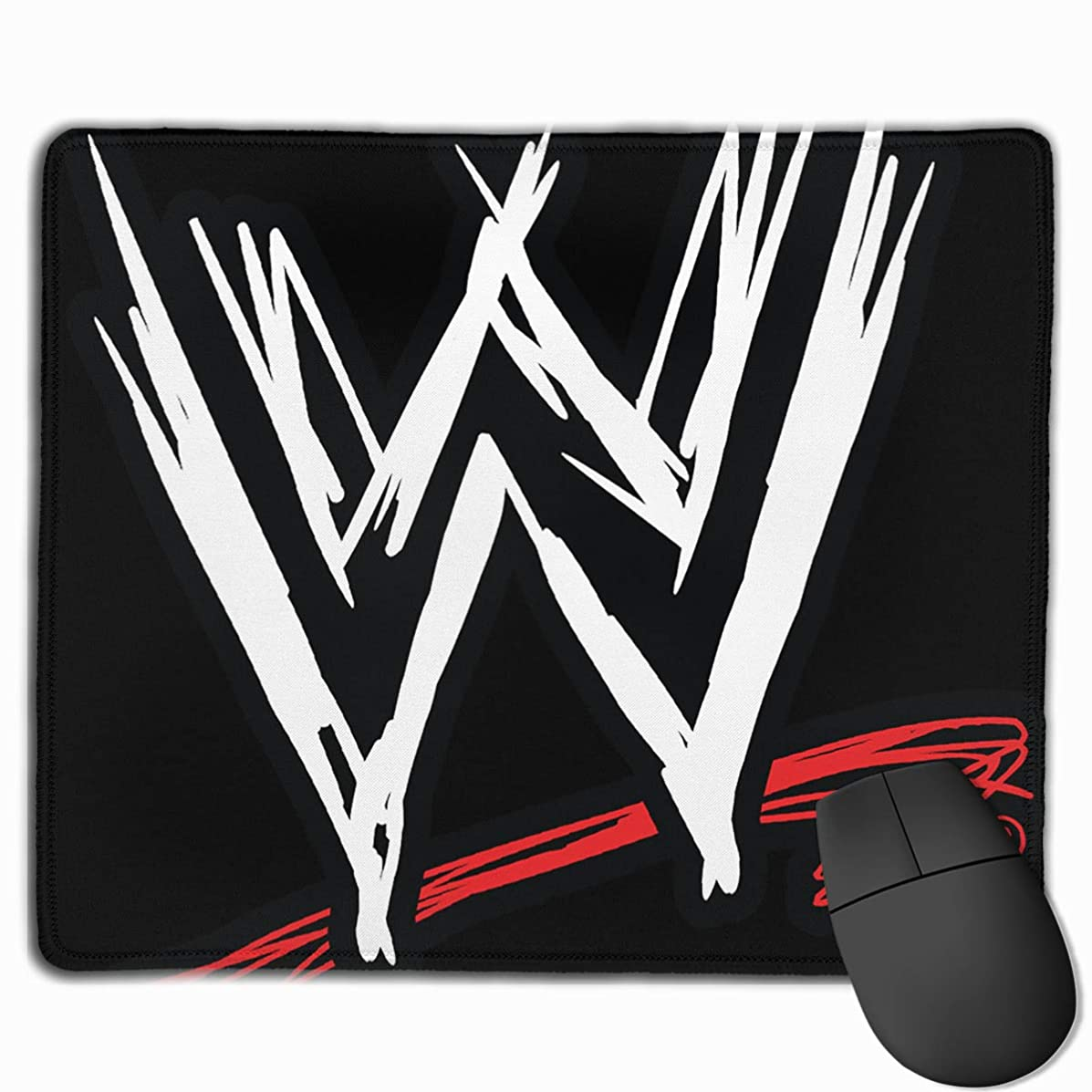 Non-Slip Mouse Pad Rectangle Rubber Mousepad WWE Logo Print Gaming Mouse Pad