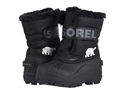 SOREL Kids Snow Commandertm (Toddler/Little Kid) (Black/Charcoal 1) Kids Shoes