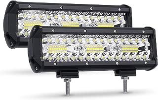 Zmoon LED Pods Light Bar 9 Inch 360W 36000LM Driving Fog Off Road Lights Triple Rows Waterproof Spot Flood Combo Beam LED Cubes Lights for Pickup Truck Jeep ATV UTV SUV Boat,2 Pack