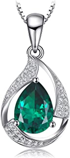 2.65 CT Coussin Forme Topaze Bleue et Diamant pendentif en argent sterling