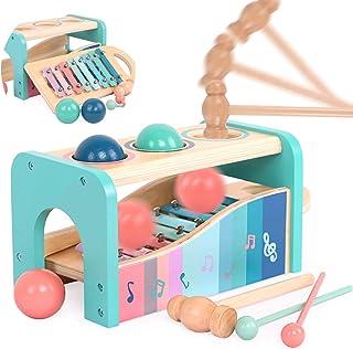 Jecimco 音楽おもちゃ 子供 パーカッション セット 早期開発 知育玩具 男の子 女の子 誕生日のプレゼント オクターブ ノッキング ピアノ 多機能 楽器おもちゃ
