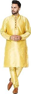 طقم بيجاما كورتا رجالي من سكافيج مصنوعة من الحرير الهندي التقليدي