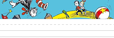 Eureka Dr. Seuss Cat in the Hat Teacher Supplies Self-Adhesive Name Plates, 36 pcs, 9.5'' x 3.25''