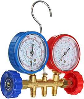 QWXZ Air Conditioning Valve Test Fitting with Connector Refrigeration Devices Pressure Gauge Cold Filling System High Prec...