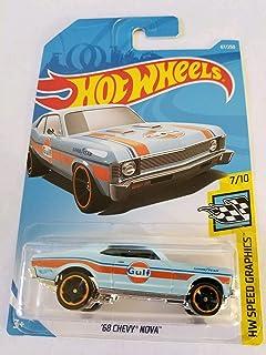 Hot Wheels 2019 Hw Speed Graphics 7/10 - 68 Chevy Nova (Gulf