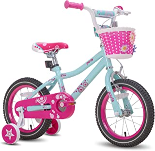 "JOYSTAR Paris Girl's Bike for Ages 3-9 Years Old, Children Bike with Training Wheels for 12"" 14"" 16"" 18"" Kid's Bike, Kicks..."