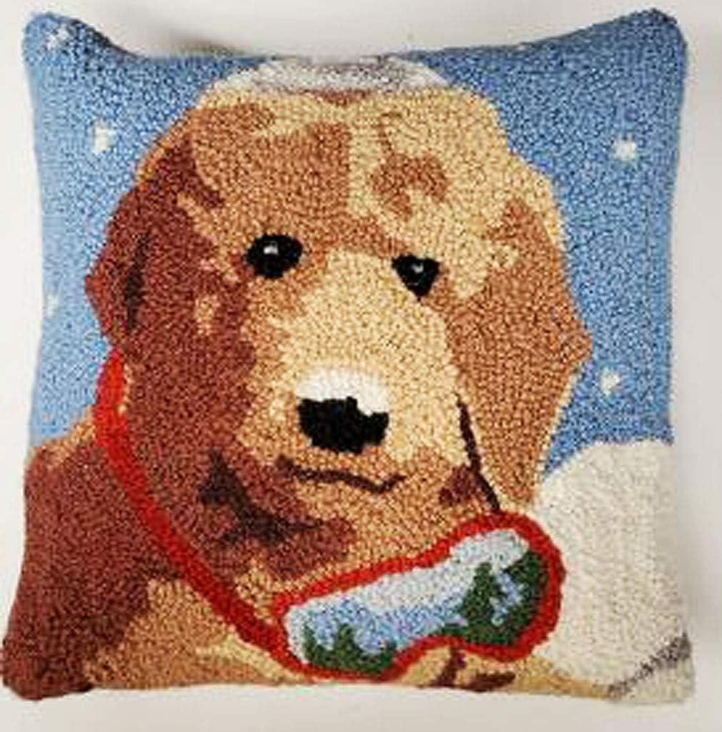Dedication Peking Brand new Handicraft Christmas Goldendoodle Doodle Dog Hook Ski Pil