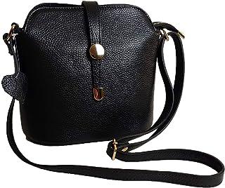 حقائب يد نسائية للكتف من الجلد الإيطالي الأصلي، قفل بسحاب، مع خطاف ربّاب بلون ذهبي
