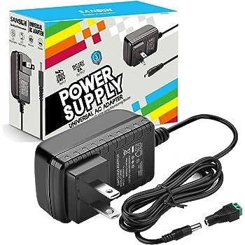 DC12V 2A Power Supply Adapter, SANSUN AC100-240V to DC12V Transformers, Switching Power Supply for 12V LED Strip Lights, 12 Volt 2 Amp Power Adaptor, 2.1mm X 5.5mm US Plug (1pcs)