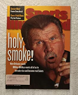 Mike Ditka with Cigar - New Orleans Saints - Sports Illustrated - July 20, 1998 - SI