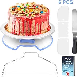 WisFox Decoración de Pasteles, Torta Giratoria con