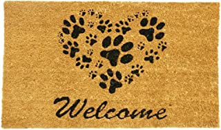 Rubber-Cal 24-Inch-by-57-Inch Heart-Shaped Paws Welcome Mat