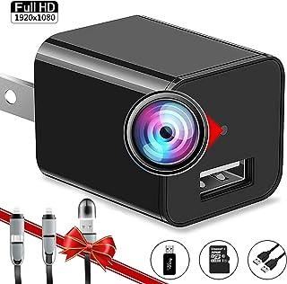 Spy Camera Charger - Hidden Camera - Secret Camera 1080P - USB Charger Camera - Hidden Spy Camera - Camara Espia - Nanny Camera - Mini Spy Camera - Surveillance Camera - Premium Camera Full HD