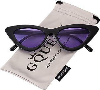 076d44fd02 GQUEEN Gafas Vintage Clout Lentes de sol tipo ojo de gato Estilo a la moda y