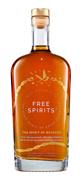 Free Spirits | The Spirit of Bourbon | Non-Alcoholic, 750ml, Oak-Caramel Nose, Velvety-Smooth