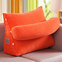 Triangle Back Cushion, Three Gear Adjustment Support Pillow/Reading Pillow Headboard, Corn Fleece Soft Backrest Pillow, fo...