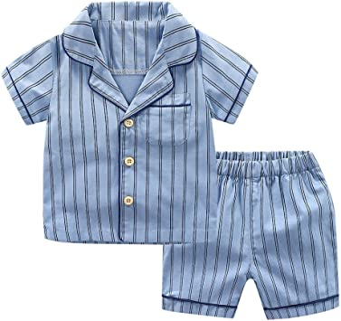 Camiseta de Manga Corta para Bebés Niños Pijamas Dos Piezas ...