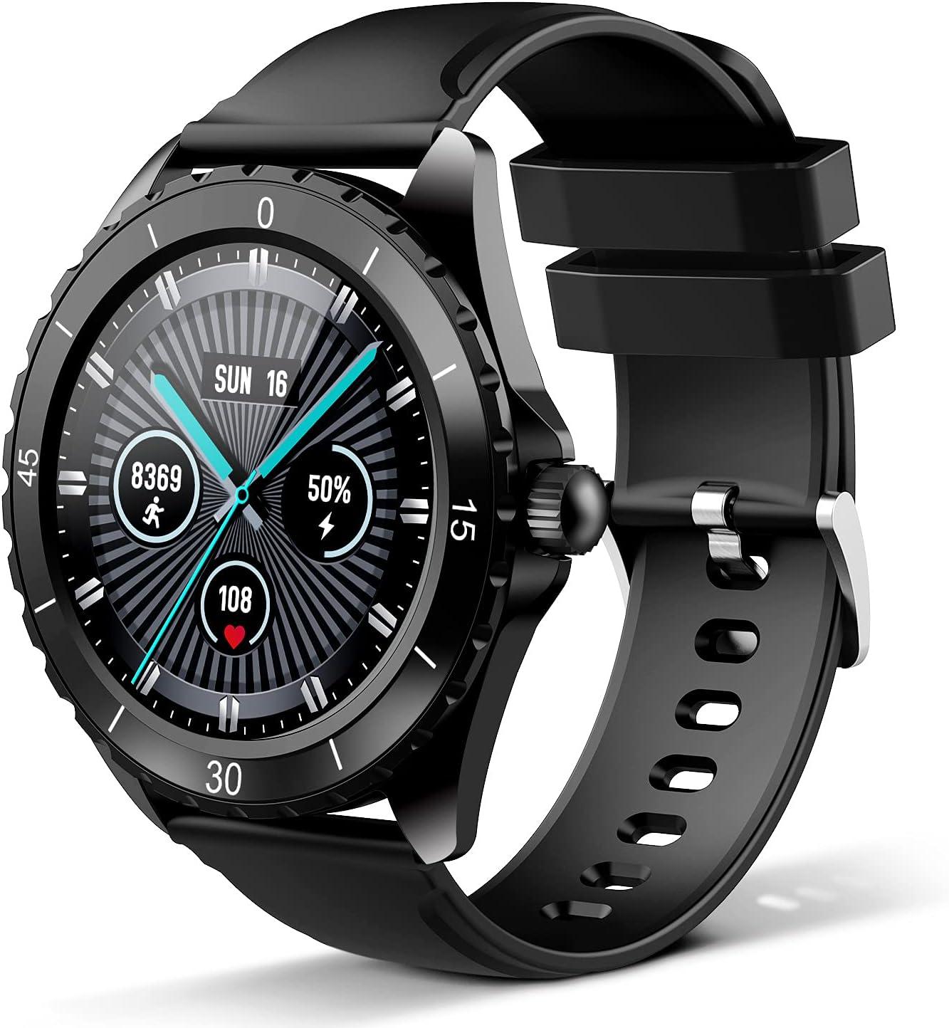 Smartwatch, rastreador de ejercicios para mujeres y hombres, pulsera de fitness, reloj deportivo con pantalla táctil de 1.3 pulgadas, monitor de frecuencia cardíaca, rastreador de iOS Android C520