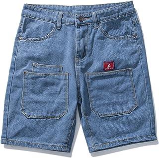 7119e2369c7f Aancy Men s Shorts Pockets Design Plus Size Cotton Fitness Pants Man Solid  Slim Fit Denim Shorts