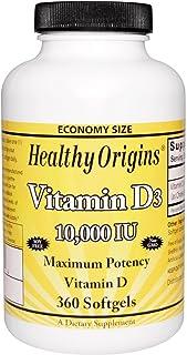 Healthy Origins - Vitamin D3 10000 IU - 360 Softgels
