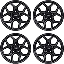 RockTrix RT105 17 inch Wheels for Jeep Wrangler JK JL 5x5 Bolt Pattern 17x9 (+12mm Offset, 5.5 inch Backspacing) 71.5mm Bore - Matte Black - Also for Grand Cherokee WJ WK WK2, Commander XK - 4pcs