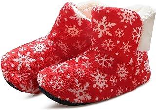 Pantoffels voor dames, pantoffels, bont, diapositief, warm, pluizig, sneeuwvlok, bedrukt, vloer, schoenen, binnenschoenen,...