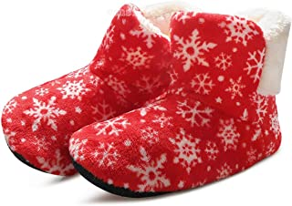 plage Winter Slippers Women House Shoes Furry Slides Warm Fluffy Slippers Snowflake Print Floor Indoor Shoes Christmas Pantoufle Femme