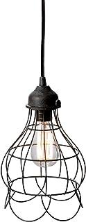 Gilded Barn Elk Wire Rose 1 Mini Pendant Light in Rustic Carob, Medium, Black