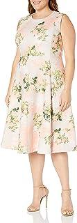 Calvin Klein Women's Plus Size Sleeveless Princess Seamed A-line Midi Dress