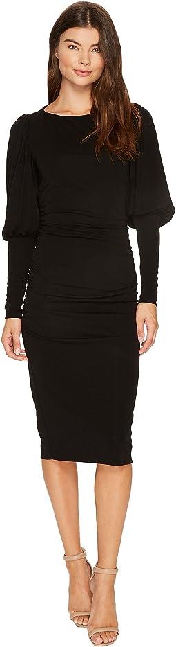 Nicole Miller - Elizabetta Matte Jersey Puff Sleeve Dress