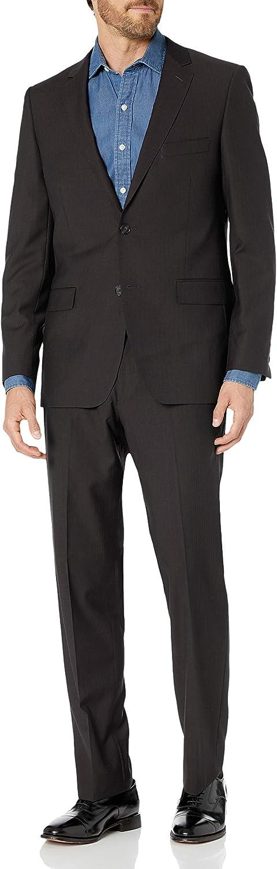 DKNY Mens Slim Fit Wool Suit