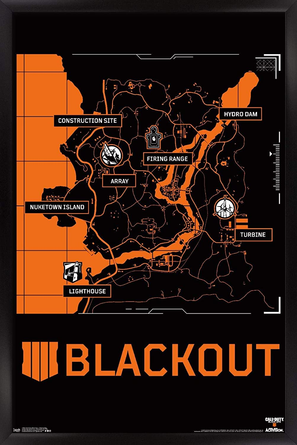Trends International Call of Duty Price reduction Map 4-Blackout Fort Worth Mall Wall Poster Ops