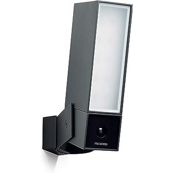 Netatmo - Telecamera di sorveglianza Wi-Fi esterna intelligente con sirena 105 dB, riflettore integrato, rilevamento di movimento, visione notturna, senza costi aggiuntivi, NOC-S-EC
