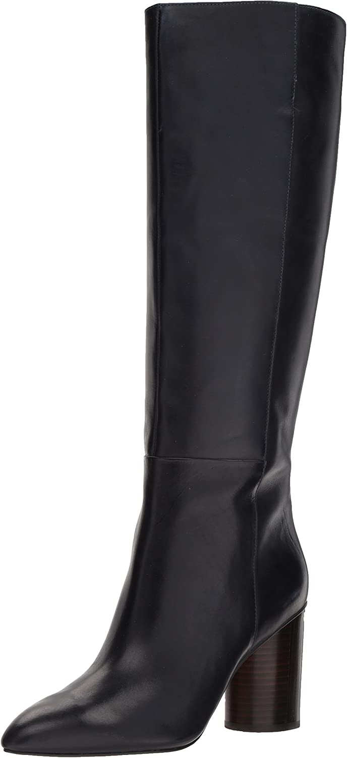 Nine West Womens Christie Leather Knee High Boot