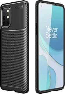 Soosos Case for 1+OnePlus 8T Case Carbon Fiber Ultra Thin TPU Soft Silicone Shockproof Anti-Fall Cell Phone Protective Cov...