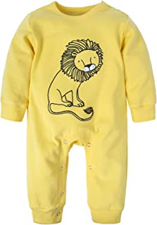 dfb5441b09 BIG ELEPHANT Baby Boys  1 Piece Long Sleeve Romper Pajama Clothes H12
