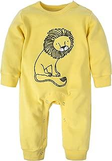BIG ELEPHANT Baby Boys' 1 Piece Long Sleeve Romper Pajama Clothes H12