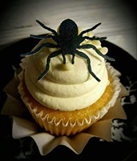 Edible Halloween Black Spider Cupcake Toppers Set of 18 P