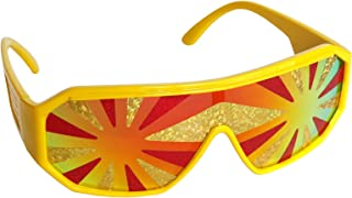 Red and Gold Star Burst Shield Sunglasses