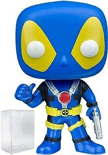 Funko Pop! Marvel: Blue X-Men Costume Deadpool with Thumbs Up FYE Exclusive Vinyl Figure (Bundled with Pop Box Protector Case)
