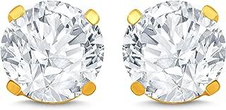 martini cut diamond stud earrings