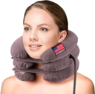 Dispositivo Inflable de Tracción Para El Cuello y Collar Ortopédico, Diseñado en EEUU, Lo Mejor para Soporte de Cuello y Alivio Instantáneo del Dolor de Cuello Crónico Quiropráctico