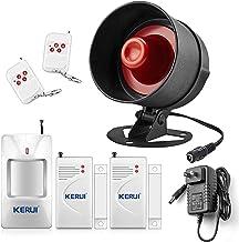 KERUI Upgraded Home Security System Indoor Outdoor Weather-Proof Siren Window Door Sensors Motion Sensor Alarm with Remote...