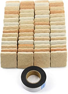 軽量レンガタイル かるかるブリック Sサイズ(ミニサイズ) 半丁(ハーフサイズ) 60枚入両面テープ付 MBH-1ライトブラウン