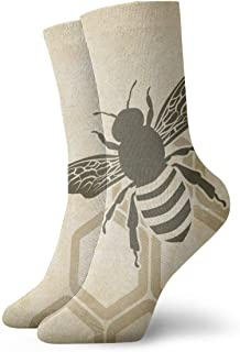 Hunter qiang, Calcetines para mujeres y hombres, Bee Old Background – Vector Illustration calcetines deportivos 30 cm