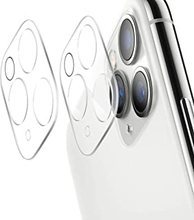 [ 2 Pack ] UniqueMe for Apple iPhone 11 Pro/Apple iPhone 11 Pro Max Camera Lens Protector Tempered Glass, HD Clear Anti-Scratch